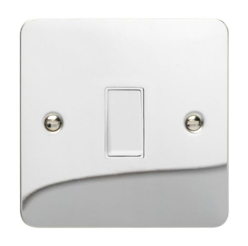 Varilight XFCBPW Ultraflat Polished Chrome 1 Gang 10A Retractive Light Switch